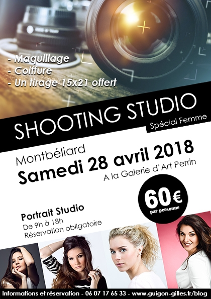 Shooting Studio Montbéliard 28 avril 2018